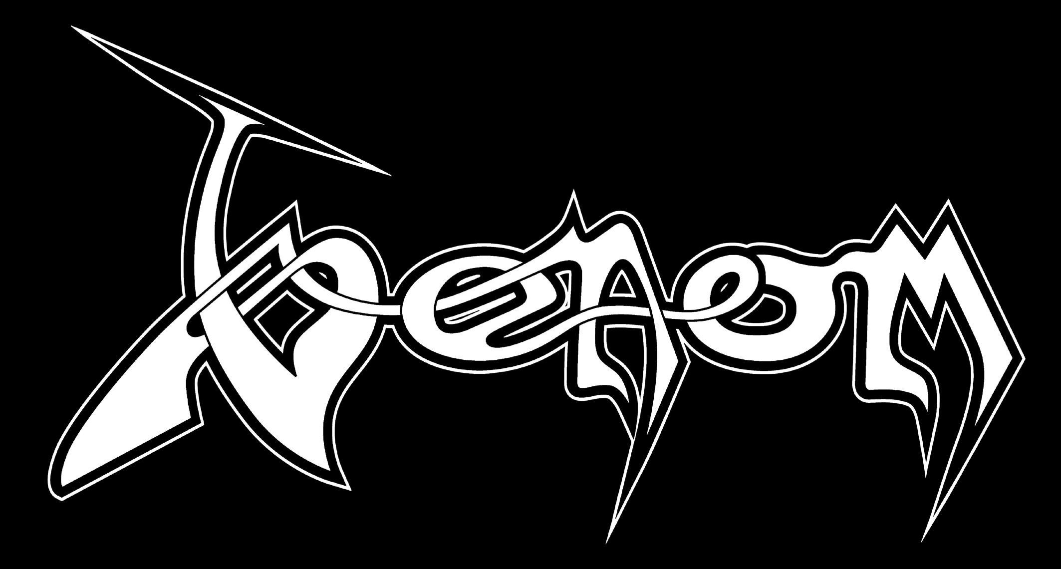 Standard Venom Logos - white on black background  amp  black on white    Venom Logo Wallpaper